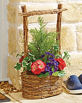 Geranium Handled Basket