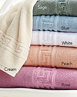 Greek Key Hand Towel