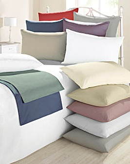Cotton Rich Oxfor Pillowcase Pair 180TC