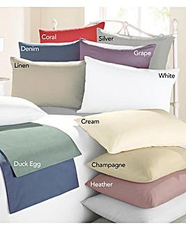 Cotton Rich Housewife Pillowcase Pair