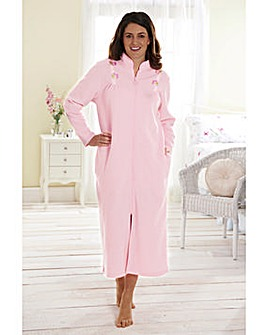 Terry Fleece Zip Gown