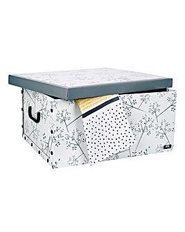White Leaf Design Garment Box