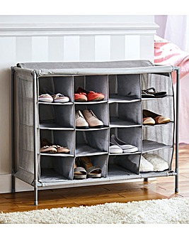 16 Compartment Shoe Cabinet