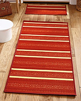 Stripy Runner by the Foot with Doormat