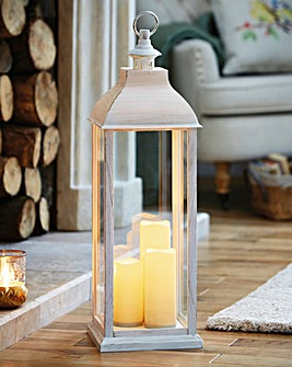 Lantern with LED Candles