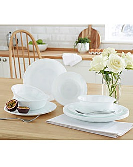 Break Resistant 12 Piece Plate and Bowl