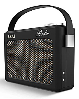 Akai Retro DAB Radio Black
