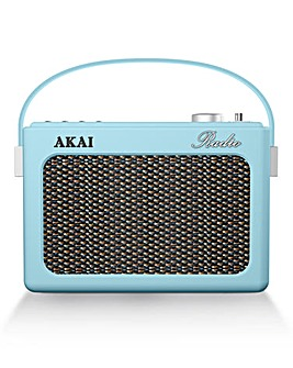 Akai Retro DAB Radio Blue