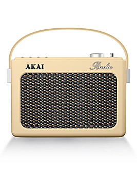 Akai Retro DAB Radio Cream