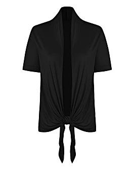 Black Tie Front Jersey Shrug