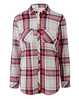 Navy/Red/White Check Shirt