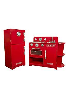 Teamson Kids Red 2 Piece Kitchen
