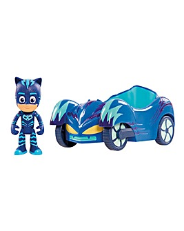 PJ Masks Vehicle & Figure - Cat Boy Cat