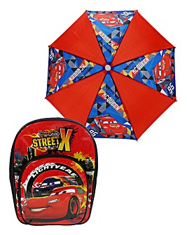 Disney Cars Backpack & Umbrella
