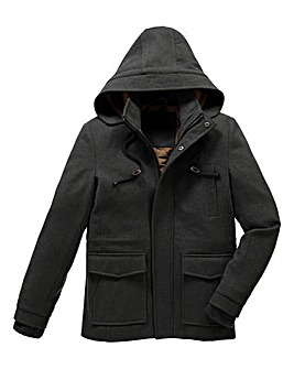 Jacamo Forte Hooded Duffle Coat