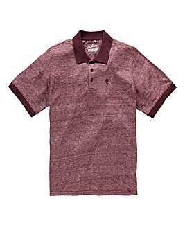 Jacamo Griffin Red Marl Jersey Polo L