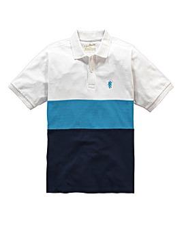 Jacamo Griffin Blue Colour Block Polo L