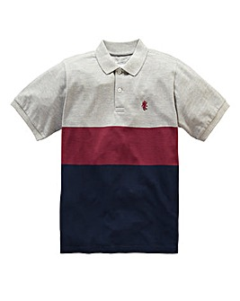 Jacamo Griffin Grey Colour Block Polo L