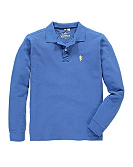 Jacamo Cornflower Long Sleeved Polo Reg