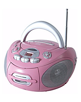 Portable CD Radio Cassette - Pink
