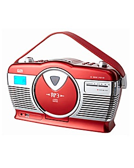 Retro Portable CD MP3 Red Radio