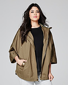 Short Lightweight Cotton Utility Parka