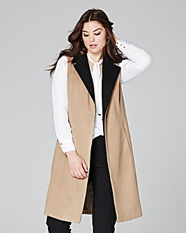 Sleeveless Wool Like Coat