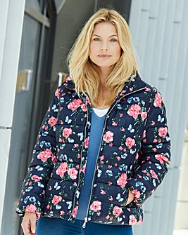 Floral Print Padded Jacket