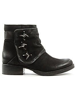 Daniel Magsy Black Chunky Ankle Boot