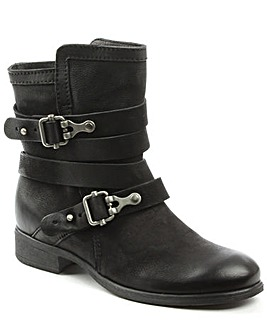 Daniel Meghan Double Buckle Ankle Boot