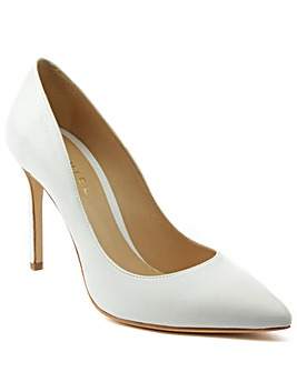 Daniel Modest White Leather Court Shoe