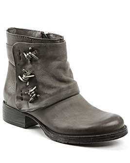 Daniel  Magsy Grey Barbed Ankle Boot