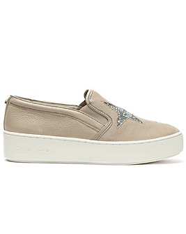 Michael Kors Leather Slip On Trainer