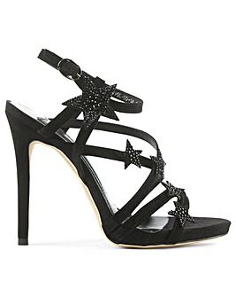 Daniel Strappy Black Crystal Star Sandal