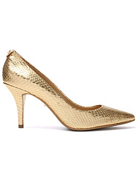 Michael Kors Gold Reptile Leather Shoe