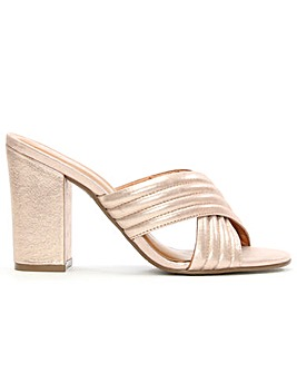 Daniel Pink Metallic Quilted Heeled Mule
