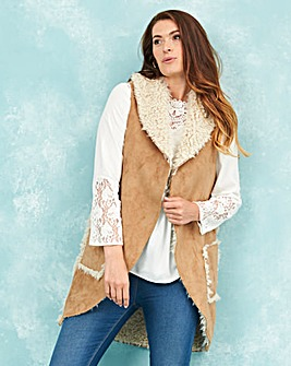 Borg Shawl Collar Waistcoat