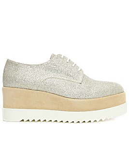 Daniel Ama Gold Lace Up Flatform Shoe