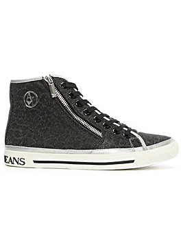 Armani Jeans Metallic High Top Trainer