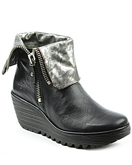 Fly London Fold Down Cuff Ankle Boot