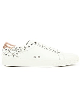 Ash White Leather Embellished Trainers