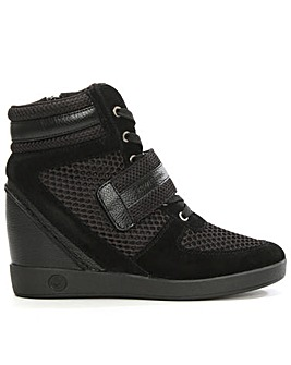 Armani Jeans Black HighTop Wedge Trainer