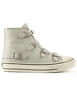 Ash Pearl Leather High Top Trainer