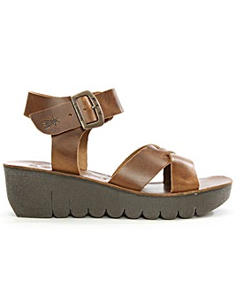 Fly London Ankle Strap Wedge Sandal