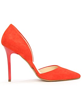 Daniel Red Suede Two Part Court Shoe