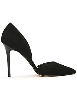 Daniel Black Suede Two Part Court Shoe