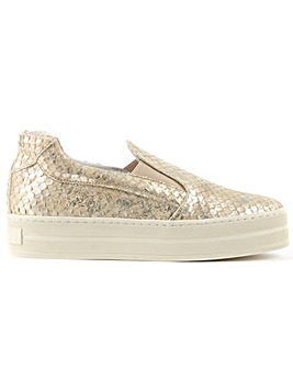 Daniel Reptile Leather Flatform Trainer