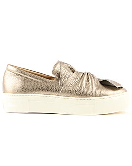 Daniel Metallic Knotted Slip On Trainer
