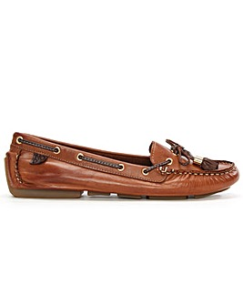 Moda In Pelle Tan Leather Moccasin