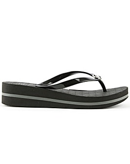 Michael Kors Toe Post Wedge Flip Flop